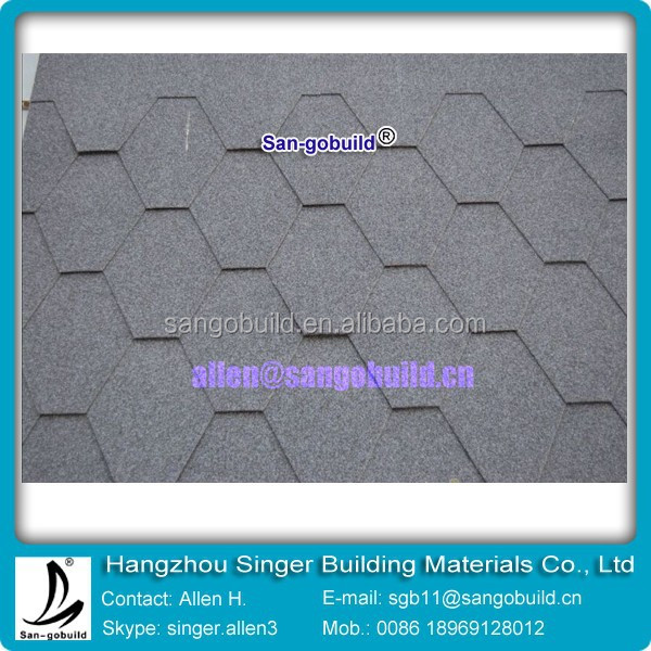 Hot sale 2015 Chile Top Quality Mosaic Asphalt roof shingle Bitumen tile with cheap price