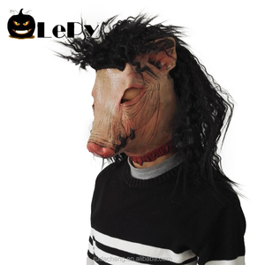 Scary Pig Head Mask Animal Latex Mask Halloween party props