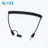 Spring Wire 2 In 1 Cable
