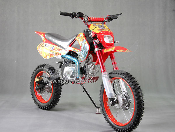 Gas-Powered 125CC Dirt Bike with Full Aluminum Wheel Frame