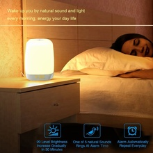 Latest Bedside Lamp Wake Up Light with 3600mAh Battery