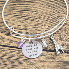 Ratatouille Inspired Bracelet Remy the rat in Paris Quote Only the Fearless can be Great crystal bangles