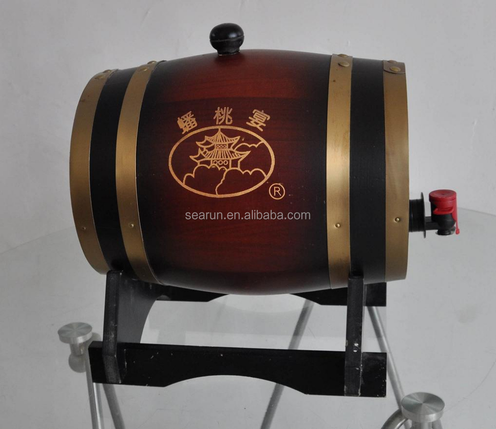 Custom Best Choice Exotic Wooden Wine Barrel/wine cylinder packaging