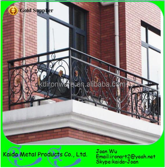 New Ourdoor Wrought Iron Juliet Balcony Railings Design