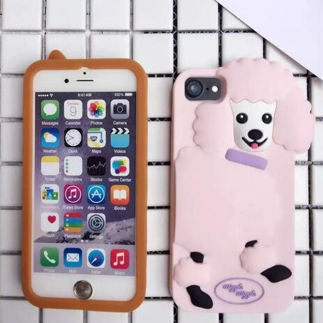 3D animal silicone case for iPhone 6 6 Plus , Fox case back cover for iPhone 7 7 Plus