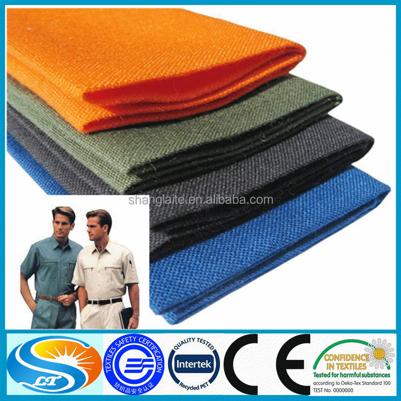 100% cotton China wholesale high quality garment fabric for workwear school uniform fabric