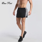 Men's Mesh Splicing Plain Sports Shorts Sweat Breathable Running Pants Gym Training Fitness Outdoor Shorts