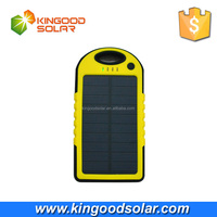 Promotional Hotting sell Dual USB Ports Waterproof 5000mAh solar charger power bank for Camping