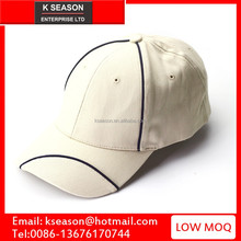 Cotton twill fitted hat contrast piping mens caps and hats