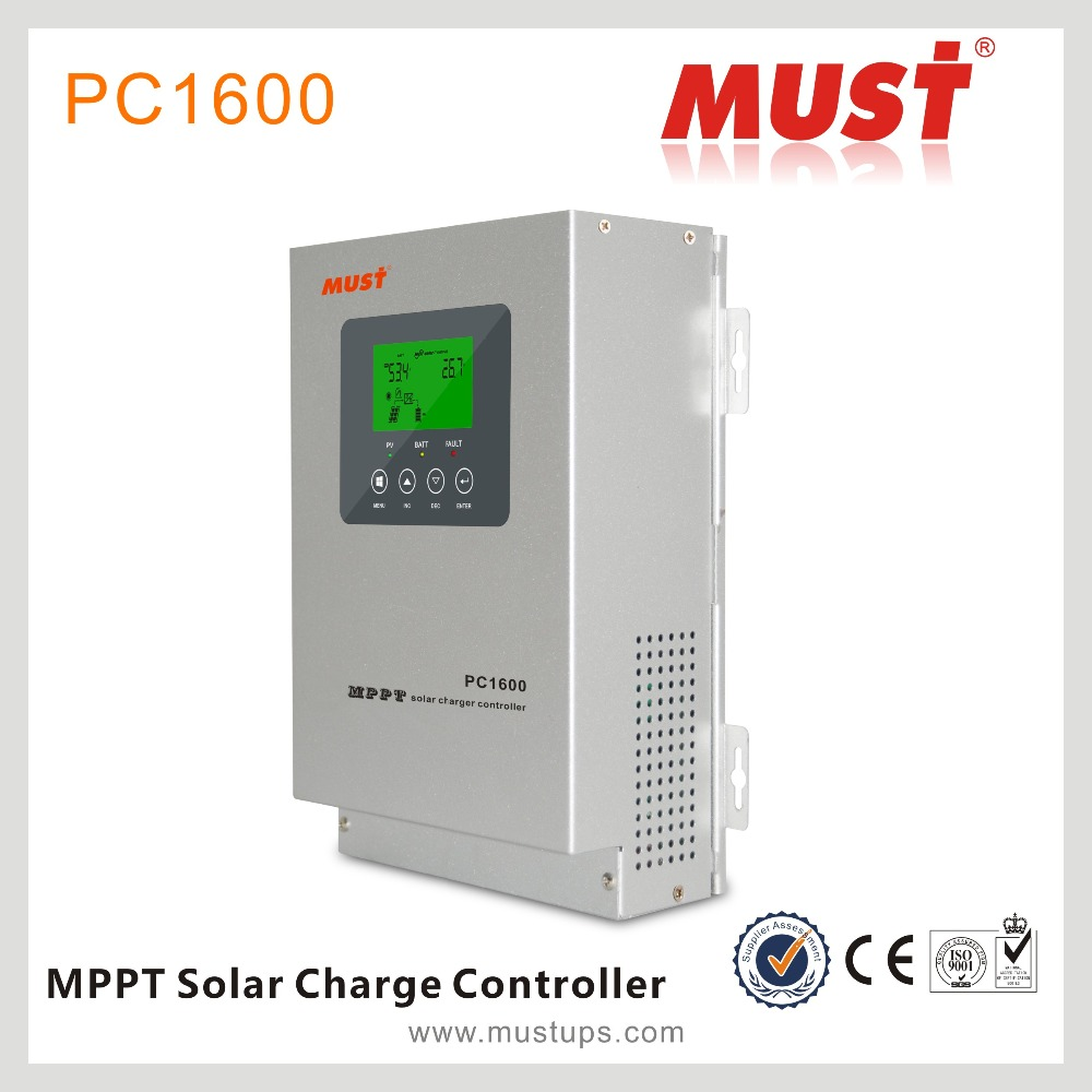 MUST 45/60A DC Charging Current MPPT Solar Tracking Charge Controller PC1600F