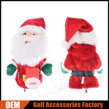 2016 Christmas Gifts Santa Claus Character Wood Golf Head Covers
