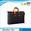 Simple style neww design handmade custom cheap felt tote bag made in China