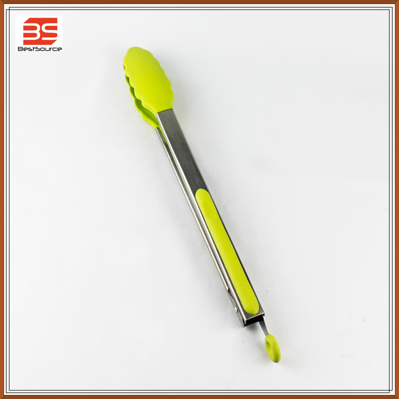 Premium Silicone Food Tong , High Heat Resistance , PP Non-Slip Handle , Lemon Yellow
