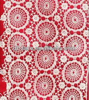 african combed lace fabric heavy durable cotton guipure water soluble ivory lace fabric