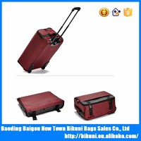 China factory supplier 22 inches lightweight custom travel boarding foldable luggage bag