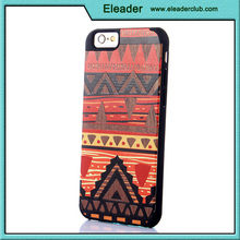 design wood with plastic case cover for iphone 6