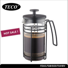 New Black stainless steel frame French coffee press with borosilicate glass
