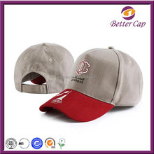 China guangzhou better cap factory made red brim hats&caps headwear fashion accessories