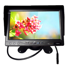 "7"" Color TFT LCD Screen Car Monitor Reverse Camera VCR With 7 Inch Sun-Shade Monitor"