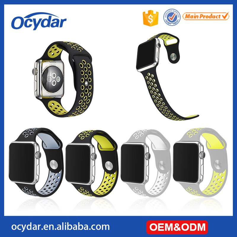 The New Silicone Band For Nike Dual Color Sport Band For Apple Watch 38mm/42mm