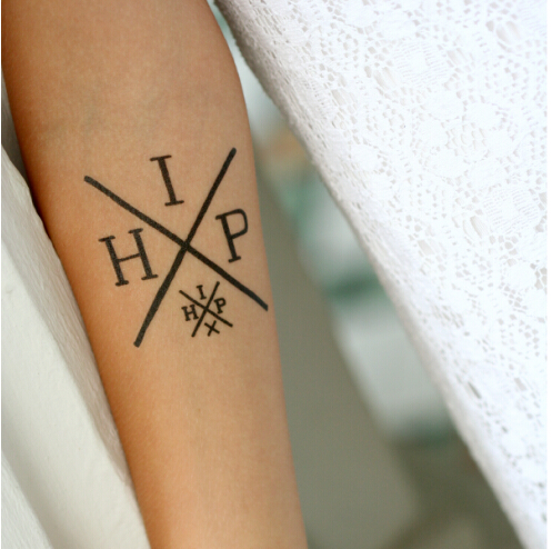 Custom letters skin temporary tattoo sticker buy custom for Custom tattoo stickers