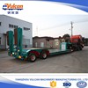Manufacturer 2 axle hydraulic low bed semi truck trailer for sale