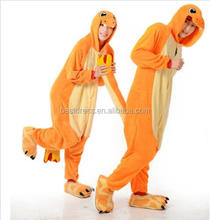 Instyles al por mayor Anime Pokemon Charmander pijamas Unisex Adultos Animal Onesie Cosplay Pijamas