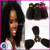 Natural Afro Kinky Curl 12 14 16 inch cheap wholesale top quality human hair weave 100% brazilian human hair