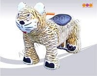 12V Children Tiger Music Electrical Toy Car with coin machine, 2 speed adjustable AQ8210-XL