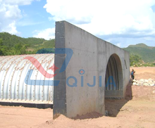 half round large diameter galvanized corrugated steel pipe culverts