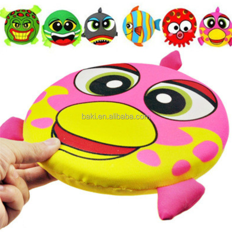 Pet Dog Cat Play Training Funny Cartoon Print Flying Frisbee Disc Dog Toys