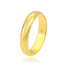11216 xuping yellow gold plated high polish gold band 1 gram gold rings design for women