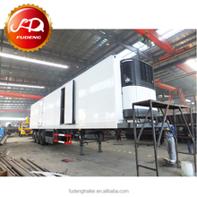 China factory 2 Axles 20ft freezer Container Carrier 40ft Refrigeration Trailer For Sale