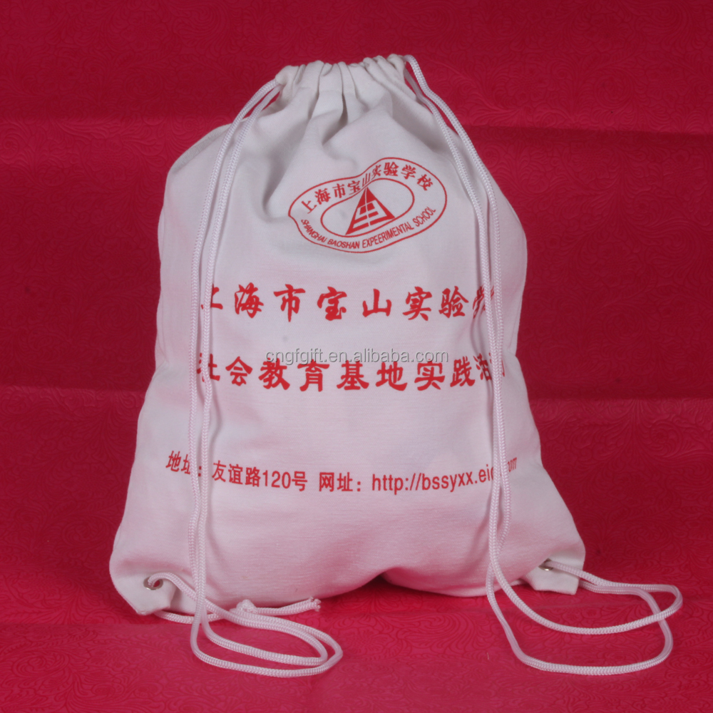 Wholesale Gift Grocery Storage Small Drawstring Cotton Bag