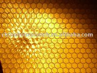 Transparent energy absorbing honeycomb solar panel