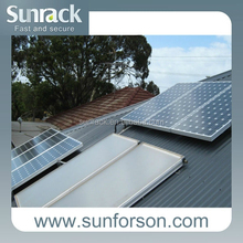 Home solar energy system pitched roof solar panel mounting frames
