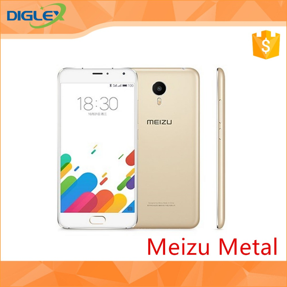 original Meizu metal 3140mAh GPS Touch 2.1 Google play Camera 13 MP 5.5 Inch Meizu metal phone 1920*1080 Dual Sim 4G LTE