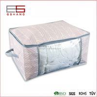 non woven fabric pvc zipper quilt cover storage bag