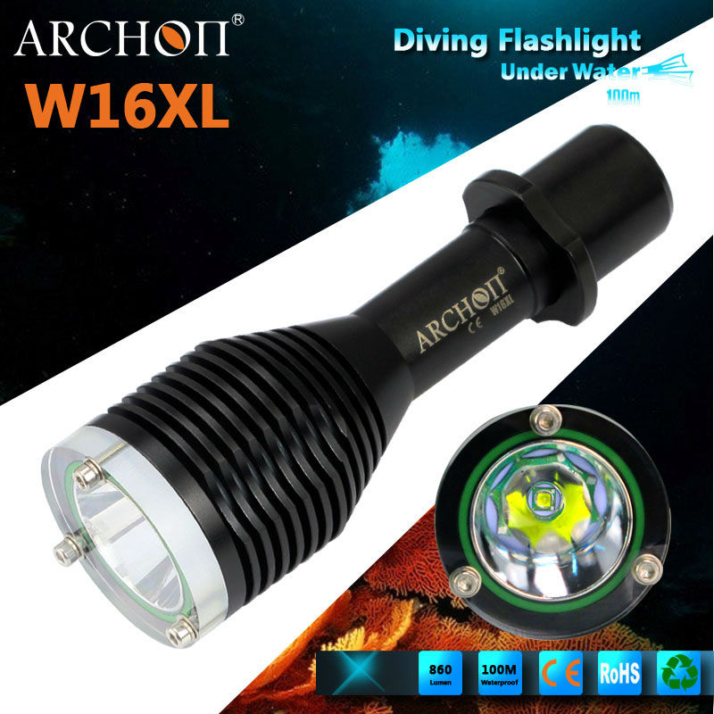 Bright Cre XM-L U2 LED 860 lumens LED Diving Lights w16 ,Diving Flashlight,Diving Torch linterna de buceo