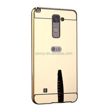 Fashion Accessories Bumper With Mirror Back Cover Phone Case For LG stylus 2