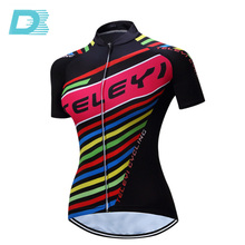 International Custom Fashion Breathable Short Sleeve Bicycle Wear Cycling Jersey