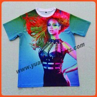 customize t shirt sublimation printing as your image no moq