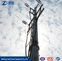 Electric galvanized metal pole