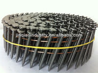 customized production smooth point coil framing nails (manufacturer)