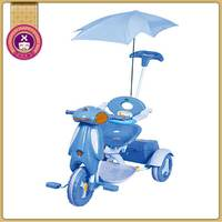 3-In-1 Three Wheeler Cozy Umbrella Girls Kids Trike With Handle
