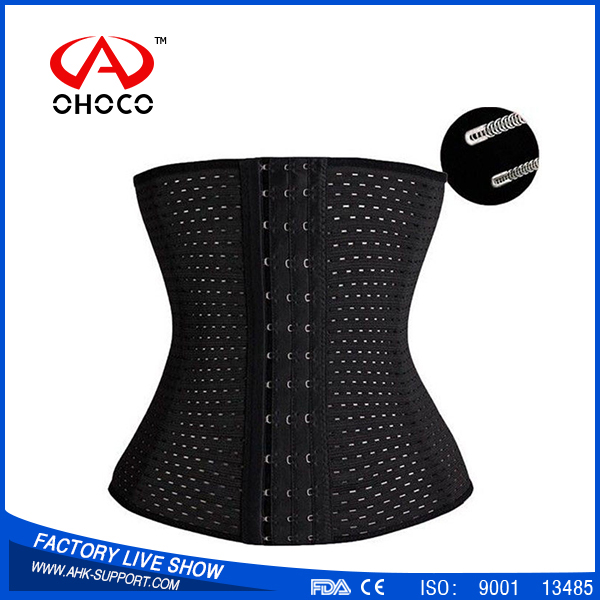 2016 wholesale ladies breathable Trainning Cincher,slimming waist training corset