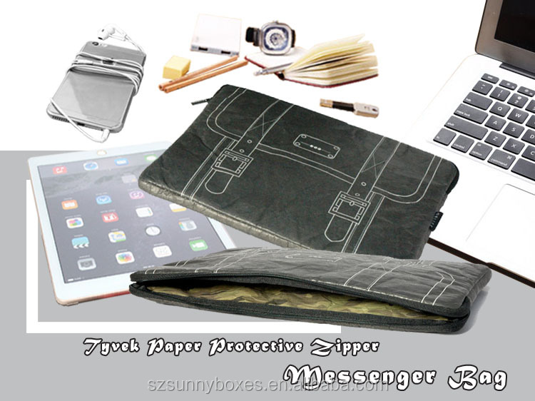 New Style Protective Tyvek Paper Laptop Sleeve Zipper Portfolio Bag For iPad & Tablets 10""