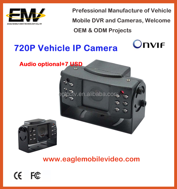 Special 720P Mobile Vehicle IP Camera for car with audio
