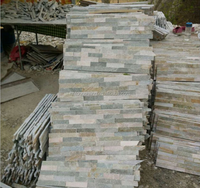 China natural slate stacked culture stone wall veneers