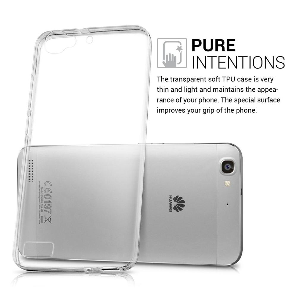 For Huawei GR3 2017 Case,Crystal Clear Transparent Soft Gel TPU Silicone Case Cover For Huawei GR3 2017